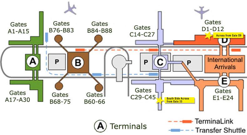 Bush Airport Chapel Locations Houston Airport Interfaith Chapels - Houston airport terminal map
